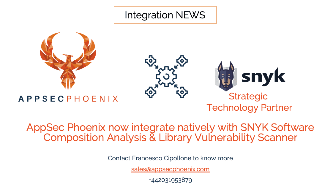 AppSec Phoenix Integrates natively with SNYK for Supply Chain Open Source protection
